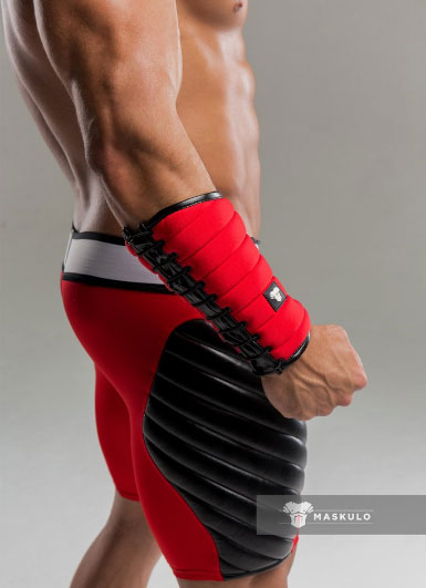Maskulo Spandex Forearm Guard Wallet Red