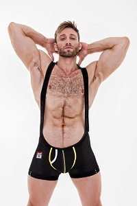 Do It Active Boxer Singlet Black/Yellow