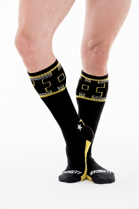 Do It Socks Dude Sock Black/Yellow