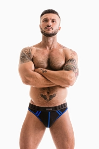Fetish Gear Core Jockstrap Black/Royal 56950