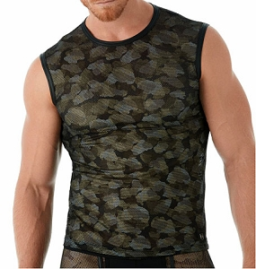 Gregg Homme Camo Muscle Top T Shirt 143022
