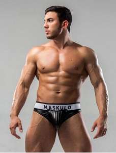 Maskulo Men's Fetish Thong Detachable Codpiece