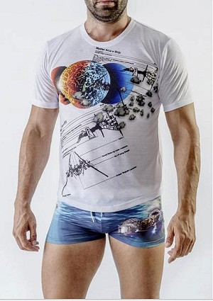 Geronimo Short Sleeved T Shirt Ocean Space 1702t3